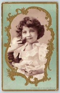 Toledo Ohio~Woolson Spice Co~Little Girl~Art Nouveau~Ladies Journal~c1895 VTC