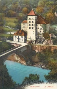 Suisse St-Maurice le chateau 1911