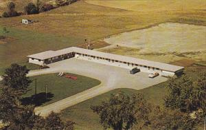 Aerial view,  Parkside Motel,  Peterborough,  Ontario,  Canada,  40-60s
