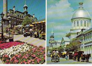 Canada Picturesque Scenes Of Old Montreal Quebec 1986