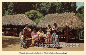 Seminole Indians Post card  Florida Seminole Indians