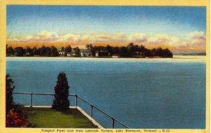 [ Linen ] US Vermont Rutland - Prospect Point Seen From Lakeside Terrace