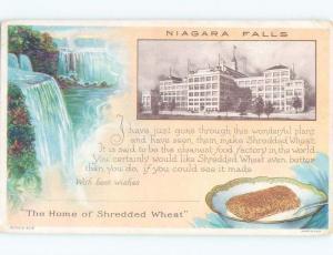 Divided-Back NABISCO SHREDDED WHEAT FACTORY Niagara Falls New York NY E9810