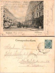 Karlsbad, Parkstrasse, Czechoslovakia Republic (9331)
