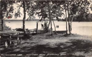 D28/ Newberry Michigan Mi Photo RPPC Postcard 1947 Muskellunge Lake Deer Park