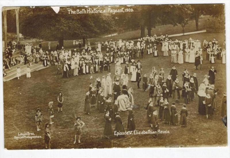 078 England THE BATH HISTORICAL PAGEANT 1909 RPC / HipPostcard