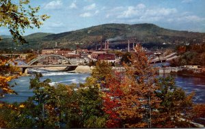 Maine Rumford As Seen From Hill Overlooking The Town