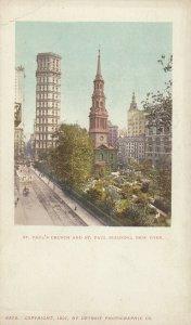 NEW YORK CITY, PMC 1898 ; St Paul's Church & Building