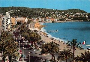 France Cote d'Azur Nice Promenade des Anglais Mont Boron Beach Postcard