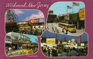 WILDWOOD , New Jersey , 1985 ; 4-views of the Boardwalk