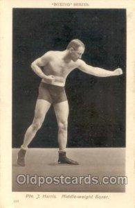 #110 Pte. J. Harris Boxing Series Unused minor corner wear, Unused close to...