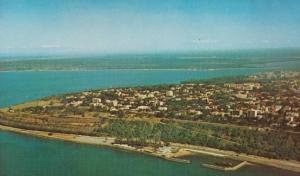 Naval Boat Polana Suburb Club Aerial View Mozambique African Postcard