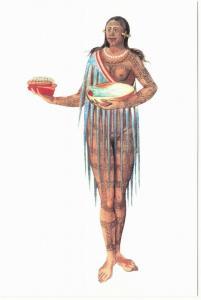 Timucua Native Woman Florida with Tattoo Native American Modern Postcard