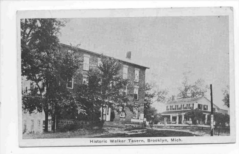 Historic Walker Tavern , Brooklyn , Michigan, PU-1931