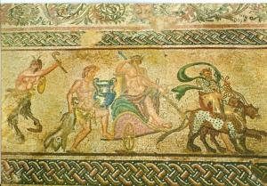 Cyprus, Floor Mosaic 3rd Century A.D. Paphos, unused Postcard