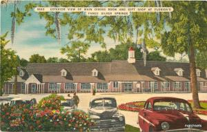 Exterior View  Main Dining Room Gift Shop Silver Springs Florida linen 7396