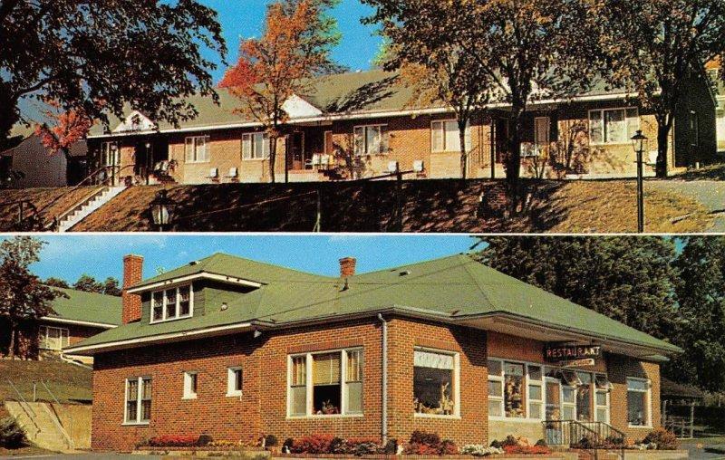 Green Lantern Motel Restaurant & Gift Shop, Capon Bridge, WV ca 1950s Postcard