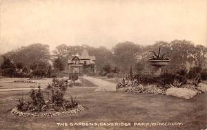 Scotland, UK Old Vintage Antique Post Card Gardens, Beveridge Park Kirkcaldy ...
