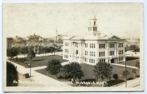 Court House Missoula Montana 1919 Real Photo postcard