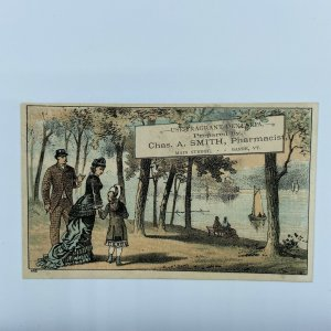 Dentaria Pharmacist Chas A Smith French's Block Barre VT Vermont Trade Card