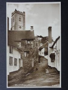 Somerset: CHURCH STEPS, MINEHEAD - Old RP Postcard by Kingsway