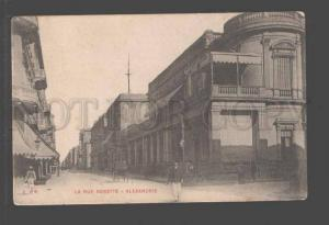 096764 EGYPT La rue Rosette Alexandrie Vintage PC