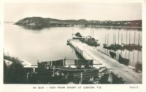 Quebec, Canada View From Wharf at Cascon Real Photo Postcard