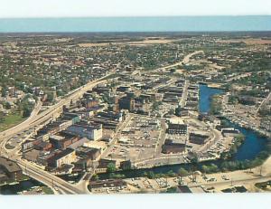 Unused Pre-1980 AERIAL VIEW OF TOWN Salisbury Maryland MD n1917@
