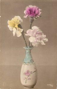 Bautiful flowers in vase  Nice vintage French postcard