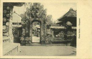 indonesia, Bali, DENPASAR, Poera Pura Satria, Hindu Temple (1910s) Postcard