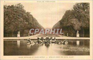 Postcard Old Park of Versailles Apollo Basin and Allee Royale