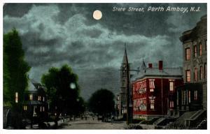16287  NJ  Perth Amboy  State St. night view