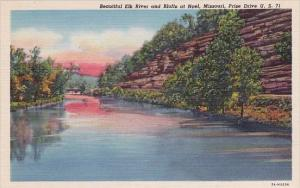 Beautiful Elk River And Bluffs At Noel Missouri