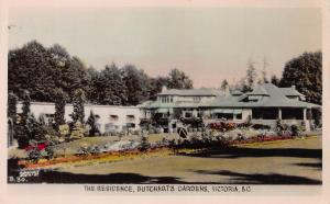 Residence, Butchart Gardens, Victoria, B.C., Canada, Early Postcard, Unused