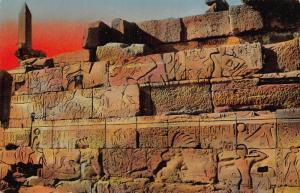 Egypt Karnak Grand Temple d'Ammon Bas Reliefs Postcard