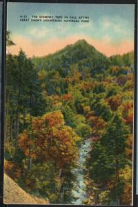 Great Smoky MountainsNat Park Chimney Tops Fall colour PC  unused