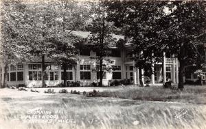 d6/ Hartland Michigan Mi Real Photo RPPC Postcard c40s Cromaine Hall Waldenwoods
