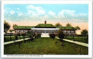 Vintage Louisiana Postcard NEW ORLEANS COUNTRY CLUB Curteich c1930s Unused