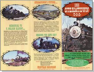 1968 Steamtown U-S-A Brochure, Bellows Falls, Vermont/VT
