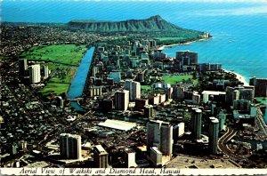 Hawaii Waikiki and Diamond Head Aerial View