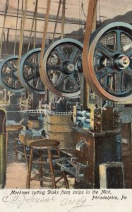 PHILADELPHIA, Pennsylvania, 1901-07 ; Machines Cutting Disks at the Mint