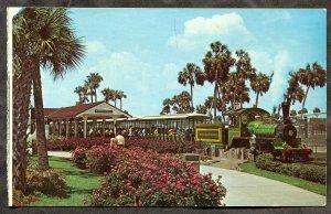 dc855 - TAMPA Florida 1970s Miniature Trans-Veldt Railroad. Amusement Bush Gdns