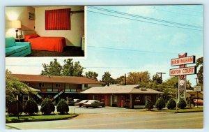 BIRMINGHAM, AR ~ Birmingham MOTOR COURT c1960s  Cars  Roadside Postcard