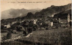 CPA Piana- Vue générale et entrée des Calanches. CORSE (711391)
