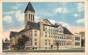 Philipsburg Pennsylvania Public School Street View Antique Postcard K77389
