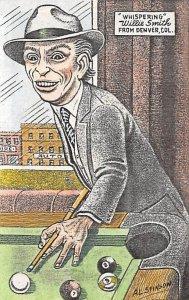 Denver, CO, USA Pool Billiards Carte Postale Writing on back