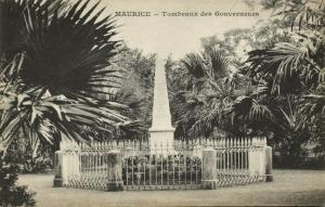mauritius, Tombeaux des Gouverneurs, Tomb (1899) Messageries Maritimes