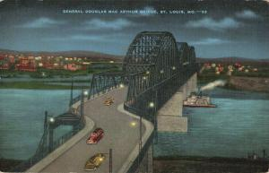 Postcard General McArthur Bridge St Louis Missouri