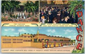 1940s Salt Lake City, Utah Postcard COCONUT GROVE Dance Hall Nightclub Bar Linen
