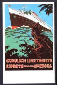 Classic Poster,Steamship,Cosulich Line